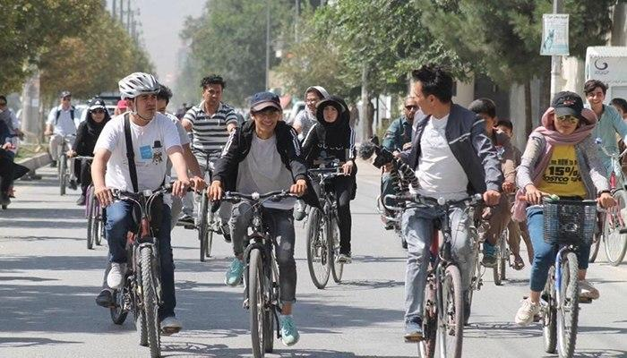 More youths choose bicycle over public transportation in Kabul