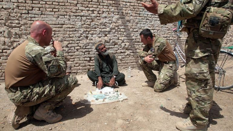 Afghans worked with foreign troops