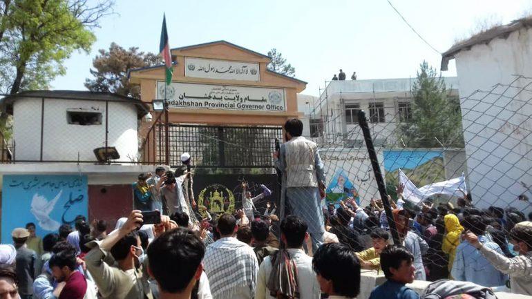 deadly gunfire on protesters in Badakhshan