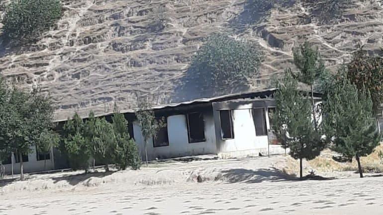 Taliban militants set fire to school