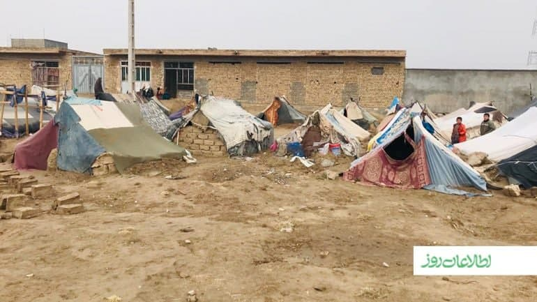 Families displaced in Herat